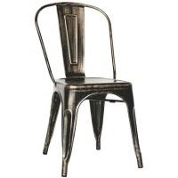Sedia in metallo verniciato effetto anticato (4 pcs)