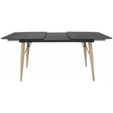 Tavoli In Pietra E Cristallo.Tavolo Con Piano In Cristallo Struttura In Metallo E Legno