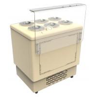 Espositore e conservatore per la vendita di gelato mantecato - Capacità 6 Carapine (-5/-20ºC) 905x684x995 mm