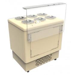 Espositore e conservatore per la vendita di gelato mantecato - Capacità 6 Carapine (-5/-20ºC) 909x684x1008 mm