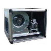 Ventilatore centrifugo cassonato a doppia aspirazione. Motore trasmissione 1 Velocità