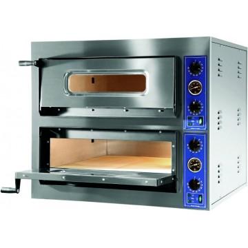 Forno elettrico professionale pizzeria. 4+4 Pizze. Potenza 12000 W. 1010x850x750h mm