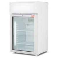 Espositore verticale a refrigerazione ventilata con cassonetto luminoso 85 Lt
