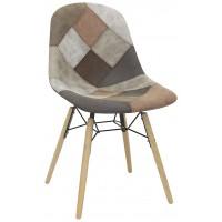 Sedia con struttura in legno e metallo rivestimento in tessuto (4 pcs)