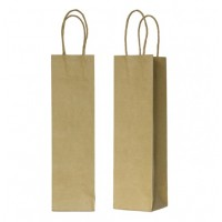 Borsa in carta kraft con manici sottili 390x80x140 mm (200 pcs)