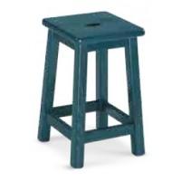 Sgabello in faggio, verniciato, sedile legno con foro