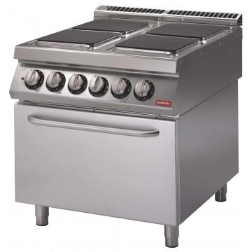 Cucina Elettrica Su Forno Elettrico, 4 Piastre Quadre. Potenza Totale 16,4  KW