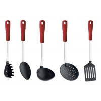 Set 5 Utensili da cucina in Nylon e Acciaio