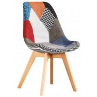 Sedia con struttura in legno, rivestimento in tessuto (2 pcs)