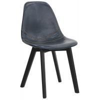 Sedia con struttura in legno, rivestimento in ecopelle (2 pcs)
