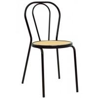 Sedia in acciaio verniciato, seduta in polipropilene (10 pcs)