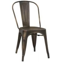 Sedia in metallo verniciato, effetto canna di fucile (4 pcs)