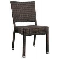 Sedia con struttura in alluminio, rivestimento in filo di polietilene (8 pcs)