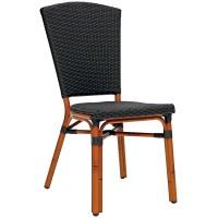 Sedia con struttura in alluminio verniciato bambù, rivestimento in filo di polietilene (6 pcs)