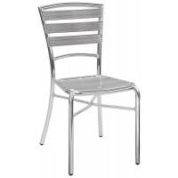 Sedia con struttura in alluminio anodizzato saldata Ø 25x1,5 mm (6 pcs)
