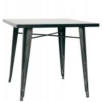 Tavolo con struttura in lamiera anticata