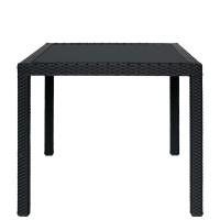 Tavolo in alluminio, rivestimento in filo di polietilene
