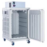 Contenitore refrigerato, frigorifero mobile, zaino frigo tetto, statico (0°/+10°C) Capacità 370 Lt.