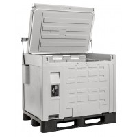 Contenitore refrigerato, palletizzato, frigo laterale, ventilato (0°/+10°C) Capacità 370 Lt.