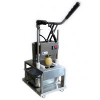 Tagliapatate 24 V con contatore + Tramoggia patate in policarbonato trasparente, capacità 75 Kg circa