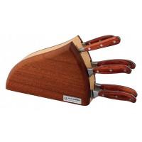 Ceppo Onda 6 pezzi Coltelli Forgiati con manicatura legno di bubinga