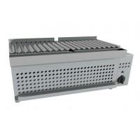 Yakitori a gas, in acciaio inox. Potenza 6 kW. 740x320x270h cm
