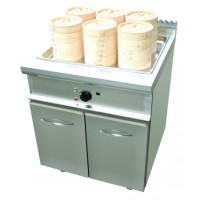 Dim Sum in acciaio inox, GN 2/1+2x2/3. Potenza 24 kW. 800x900x850h mm