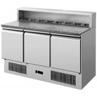 Tavolo Refrigerato Saladette 3 Porte (+2+8°C) (8 x GN 1/6) 388 Lt