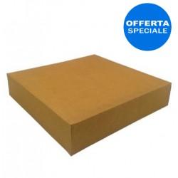 Scatola per asporto con coperchio cartone marrone, 23 cm (100 Pezzi)