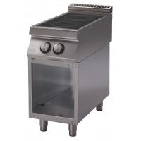 Cucina elettrica con piano di cottura a induzione