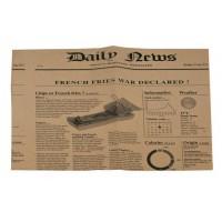 Carta kraft per alimenti antiunta, stampa giornale, 270 X 350mm, 3,2 g (1000 pcs)