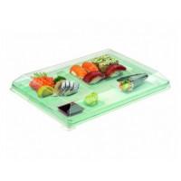 Vassoio plastica verde trasparente 38 x 27,4 cm (50 pcs)