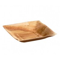 Piatto quadrato palma angoli squadrati e bordi inclinati, 16,5 cm (60 pcs)