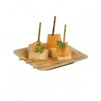 Piattino quadrato foglia di bambù, 12 cm (100 pcs)
